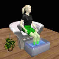 Lady in footbath