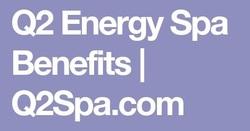 QEnergySpa Benefits