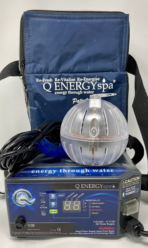 Used Model 4105 QEnergySpa with orb, cable, and bag